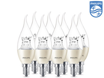 8x Philips Kaarsledlamp