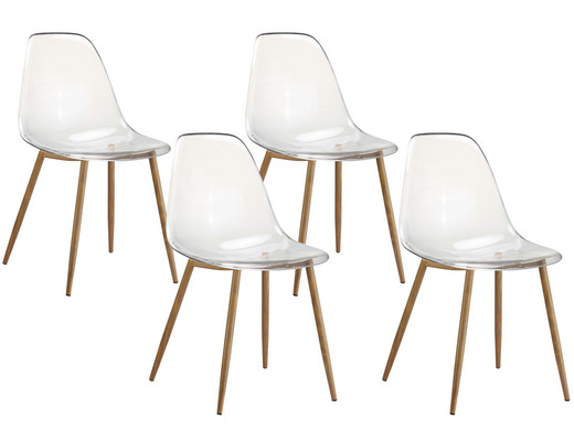 4x Transparente Stühle   Modell DEX