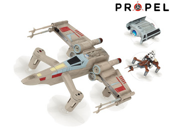 Drony Propel Star Wars Battle Collectors Box | X-Wing oraz Tie Advanced oraz Speeder Bike