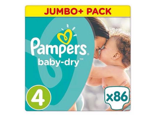 Baby Dry | Maat 4 | 86 stuks