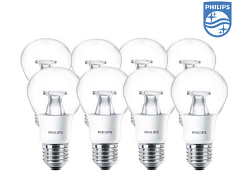 8x lampa LED Philips 40 W | E27 | 2700 K