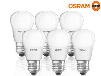6x Osram 4,0 Watt LED Lamp | E27 | Dimbaar