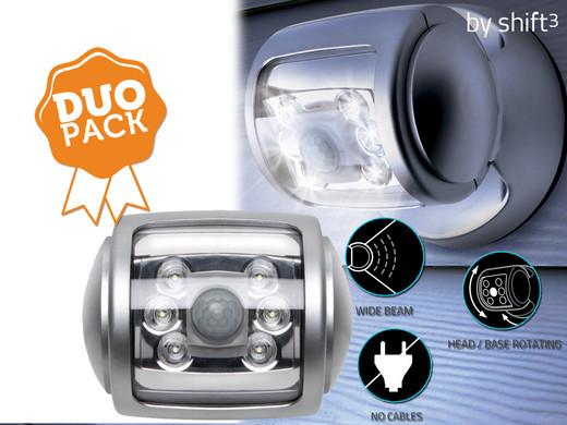 Shift³ verstelbare led buitenlampen m bewegingssensor u duopack