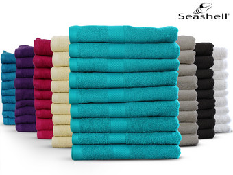 9x Seashell Hotel Collection Handtücher | 50 x 100 | 500 g/m²