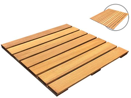 Tuintegels 100x100 Beton.Hardhouten Tuintegels 50 X 50 Of 100 X 100 Cm Voor Totaal 56 M