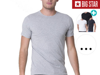 4x Big Star T-Shirts | Rundhals oder V-Neck