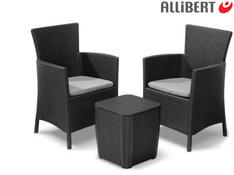 Allibert Iowa Balkonset | 1x Tafel en 2x Stoel