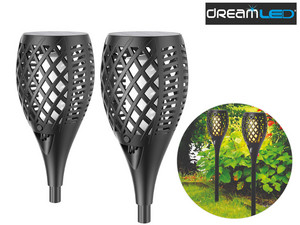 2x DreamLED Solar Flame Tuinlamp