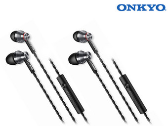 Duo-Pack Onkyo E300M In-Ears | Schwarz