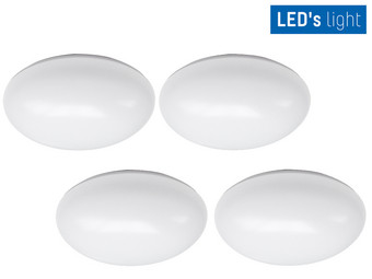 4x LED's Light LED Plafonnière | Ø 24 cm | 12 W