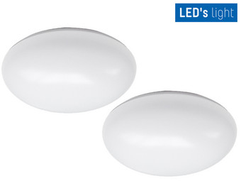 2x LED's Light LED Plafonnière | Ø 24 cm | 12 W