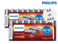 64 Philips Batterijen (AA of AAA)