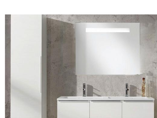 Allibert Horizontale Badkamerspiegel met Fluoverlichting | 60 cm ...