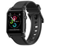 Apple Watch Armband| 42 mm, Schwarz, Silikon