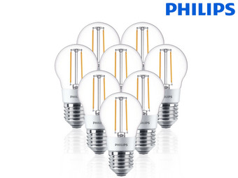 8x Philips LED Lamp | E27 | Dimbaar | 25 W of 40 W