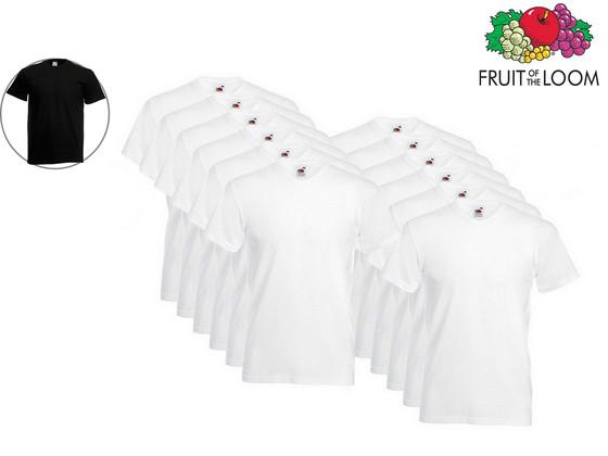 12x Fruit of the Loom Basic Shirt | Ronde of V-Hals
