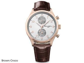 Small Chrono Rose Gold Silver Dial