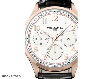 Calendar Rose Gold Cream Dial