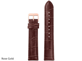 Brown Croco Horlogeband