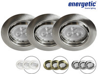 3x Energetic LED-Spot GU10