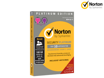 Norton Security Platinum Edition | 1 Jaar | 10 Apparaten