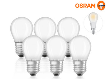 6x Osram 5 W LED Lamp (Dimbaar)