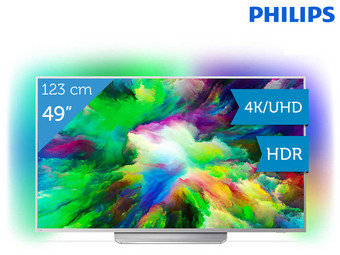 "Philips 49"" 4K Ultra HD LED-TV 