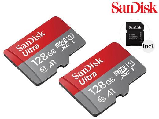 Dagaanbieding - 2x SanDisk Ultra microSDXC | 128 GB | 100 MB/s dagelijkse koopjes