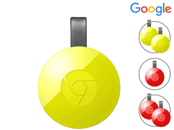 Dagaanbieding - Google Chromecast 2 (Yellow) dagelijkse koopjes
