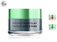 6x maska Pure Clay | 50 ml