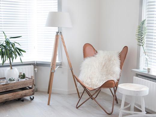 Schapenvacht Op Stoel : Schapenvacht tapijt elegant zachte kunstmatige schapenvacht stoel