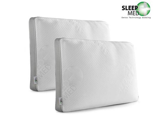Dagaanbieding - 2x Sleepmed Memory Foam Kussen | Deluxe dagelijkse koopjes