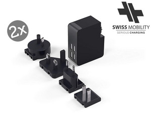 2x internationale MultiCharger | 4x USB