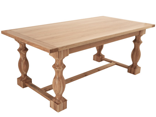 Eettafel 100 Cm.Feel Furniture Eettafel Royal Oak 240 X 100 Cm Internet S Best