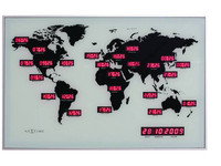 NeXtime Wandklok World Time Digit