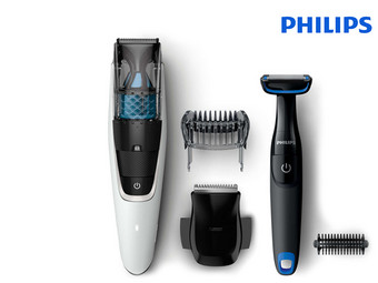 Philips Series 7000 Baardtrimmer met Turbovac | Incl. Bodygroomer
