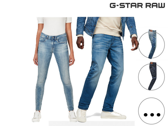 G-Star Raw Denim Jeans Dames en Heren