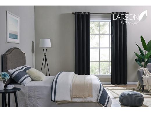 Bed Gordijn 5 : Larson premium gordijnen luxury home edition 1 5 m internets
