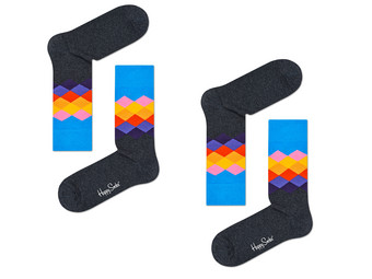 2x Happy Socks | Faded Diamond  41-46