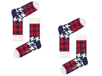 2x Happy Socks | Dogtooth 41-46
