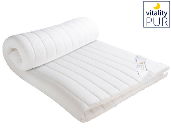 Vitality Pur Sleep Fit Traagschuim Topper | 180 x 200 cm