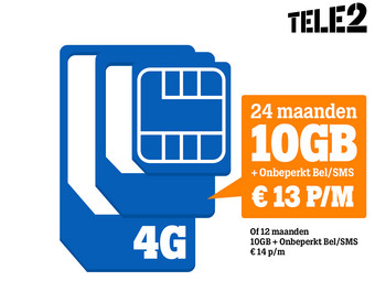 Voucher: Tele2 SimOnly | 10GB