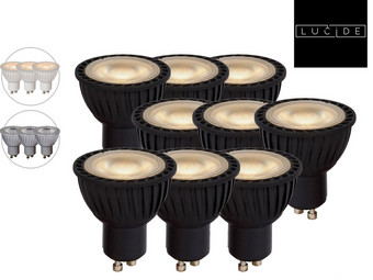 9x Lucide Dimmbare LEDs | GU10 | 2.700 K