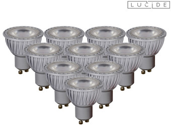 10x Lucide Dimmbare LEDs | GU10 | 2.700 K