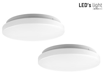 2x LED's Light Plafonnière | Ø 26 cm | 980 Lumen