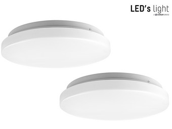 2x LED's Light Plafonnière | Ø 29 cm | 1400 Lumen