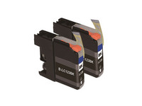 2x Cartridge LC-121 & LC-123 voor Brother | Black