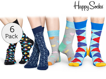 6 Paar Happy Socks Socken
