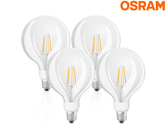 4x Osram GlowDim LED Lamp | 7 W | E27 | 2700 – 2200 K
