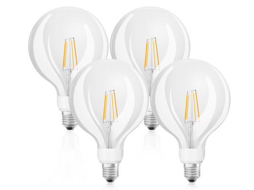 4x osram glowdim: dimmbare led lampen 7 w e27 15.000 h